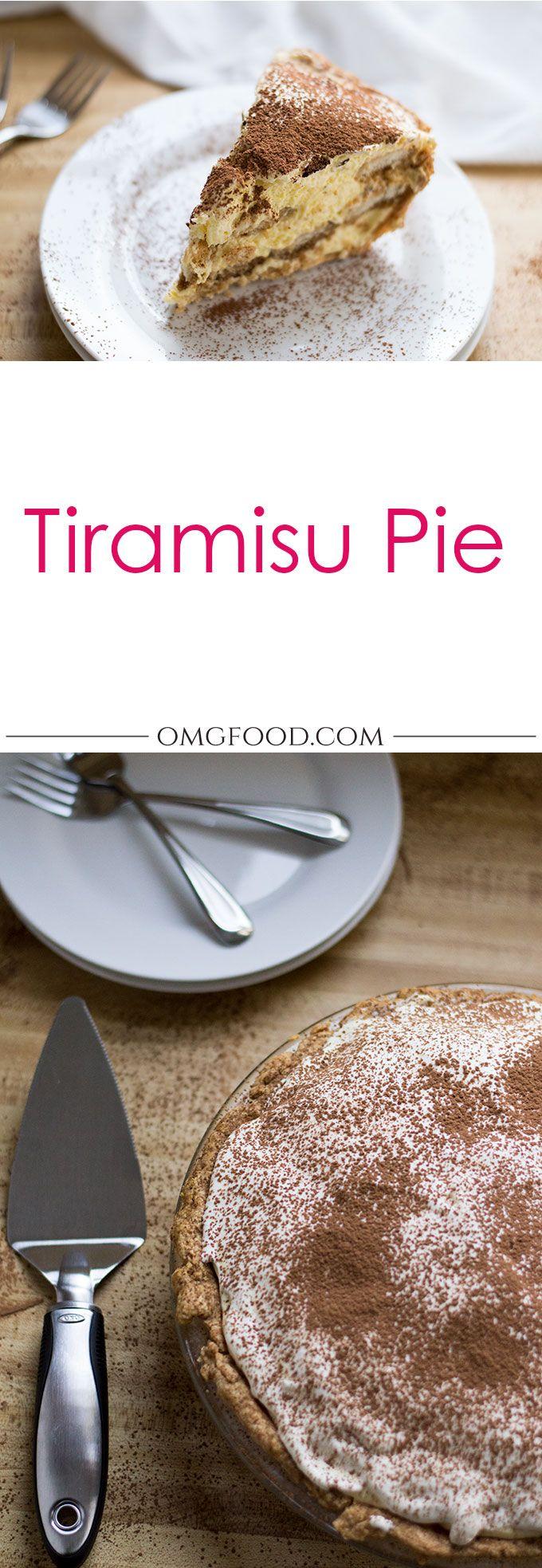 Tiramisu Pie | omgfood.com