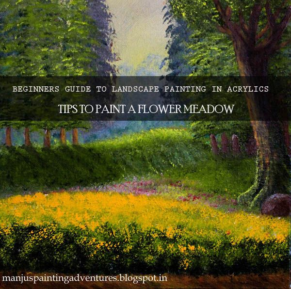 how-to-paint-a- flower-meadow-in-acrylics
