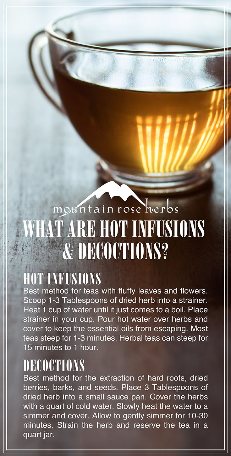 Infusions and Decoctions by Mountain Rose Herbs