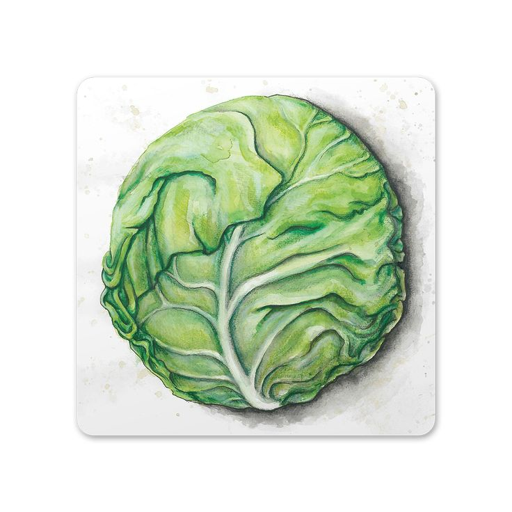 Cabbage trivet/cutting board from the Roots collection by SLOYDLAB.