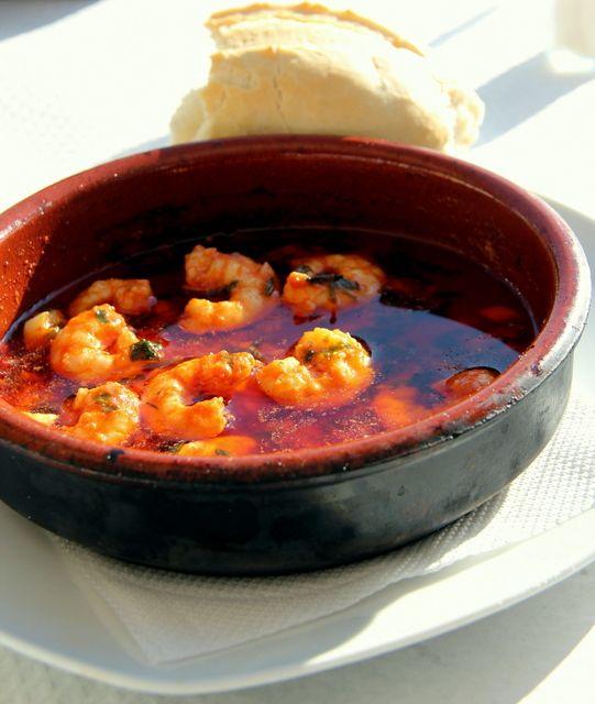 Gambas al Pil-Pil (Sizzling Hot Chili Shrimp)