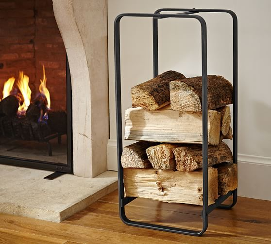 Pttery Barn industrial fireplace large log holder $159 - 17 Best Ideas About Log Holder On Pinterest Cheap Benches, Cheap