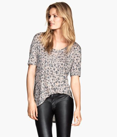 Product Detail | H&M US. You get get this Jersey top for $17.95 for H&M. Its an amazing print for the fall.