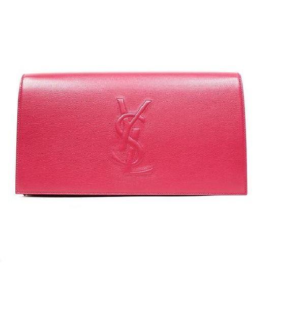 Yves Saint Laurent Ysl Belle Du Jour Large Hot Pink Clutch Bag 361120 #YvesSaintLaurent #Clutch
