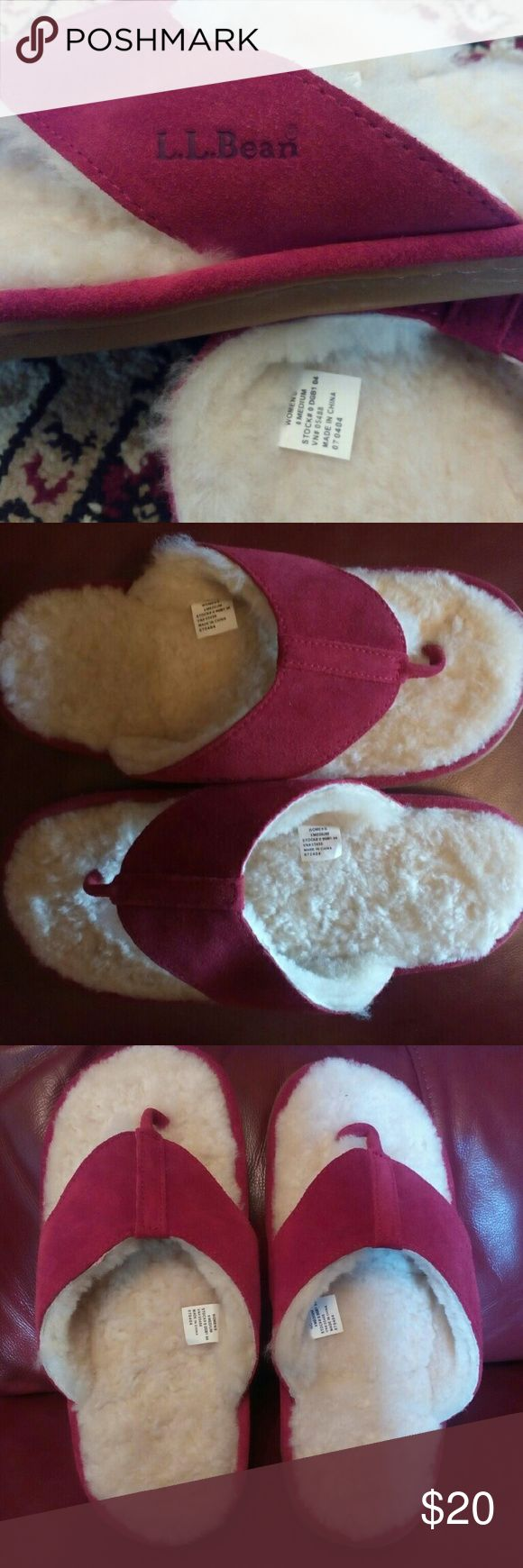 L.L Bean Wicked flip flop slippers Your soles will be wrapped in soft coziness while not being too warm! Highly recommend if you want a super comfortable summer slippers! Not worn. Only tried once L.L. Bean Shoes Slippers