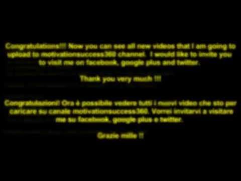 Grazie per la visualizzazione di questo video - motivationsuccess360 ESSERE AGGIORNATO!!!, GRAZIE