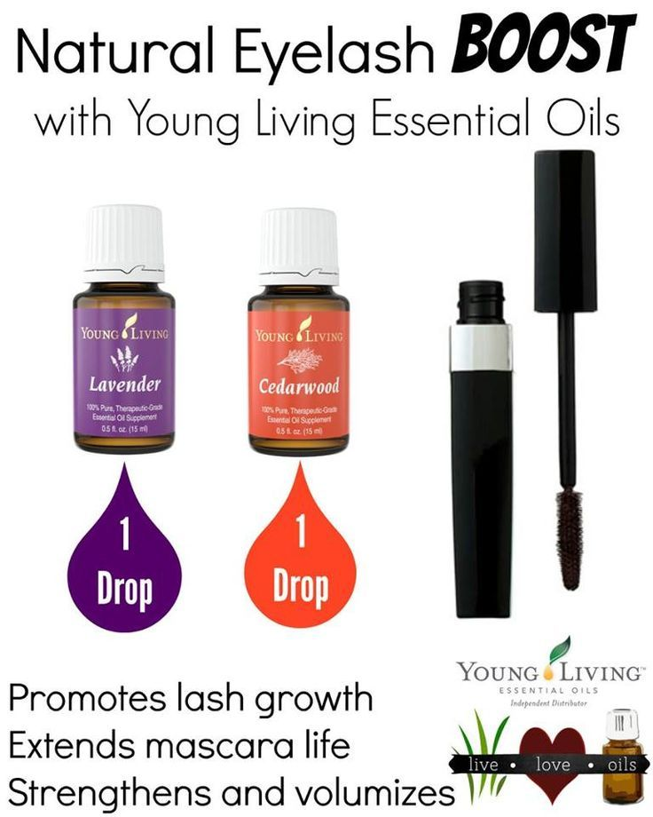 Young Living- Lavender and cedarwood essential oils for longer eyelashes