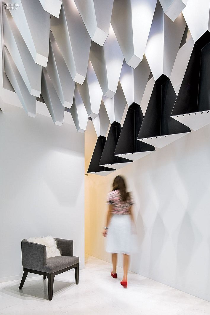 Smart Casual Intelligent Contrasts In Kuwait Citys Mlange Boutique Retail InteriorCeiling DesignCeiling