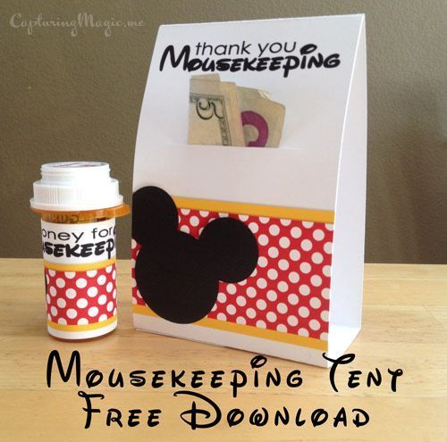 Cute ways to leave tips for Mousekeeping at Disney resorts. Free printables too!