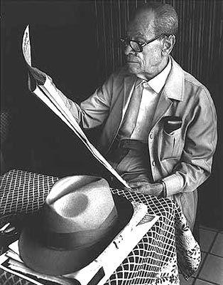 "Naguib Mahfouz (Nagib Machfus), Cairo, Egypt, 1911-2006. Writer. Read: ""Cairo Trilogy""."