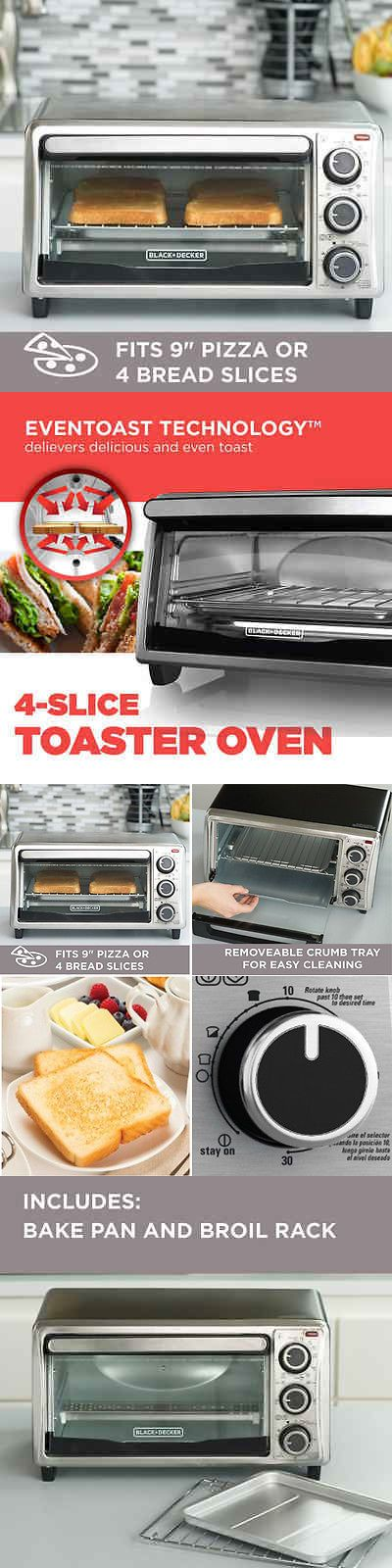 Toaster Ovens 122930: Electric Convection Oven Pizza Toaster Countertop Stainless Steel Black Decker -> BUY IT NOW ONLY: $75.52 on eBay!
