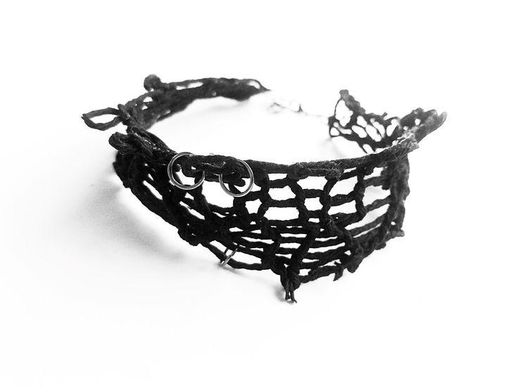 elegant metal black chocker necklace Rannka vegan jewelry