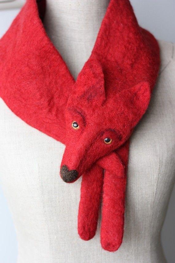 "Valentine Foks - felted scarf by ""celapiu"" on Etsy - 125$ (97€)"