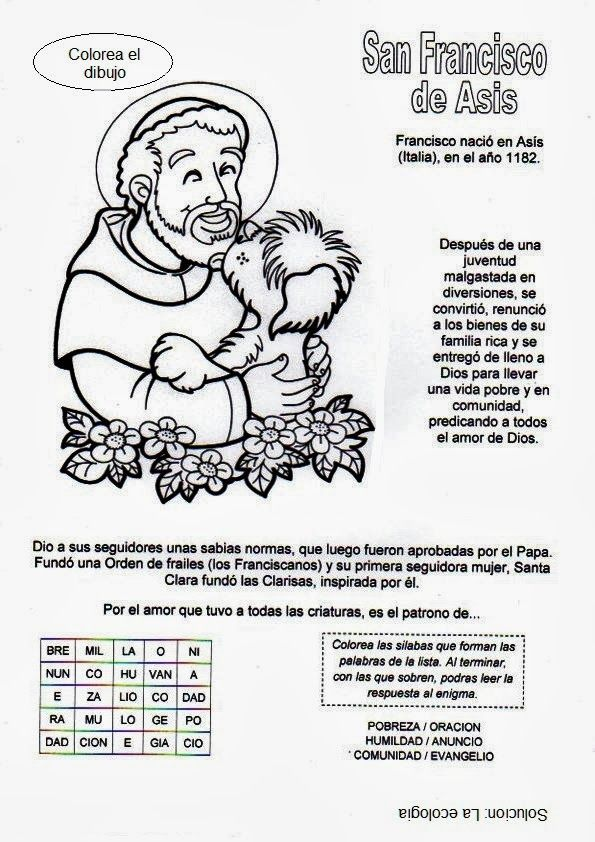 La Catequesis: Recursos Catequesis San Francisco de Asís