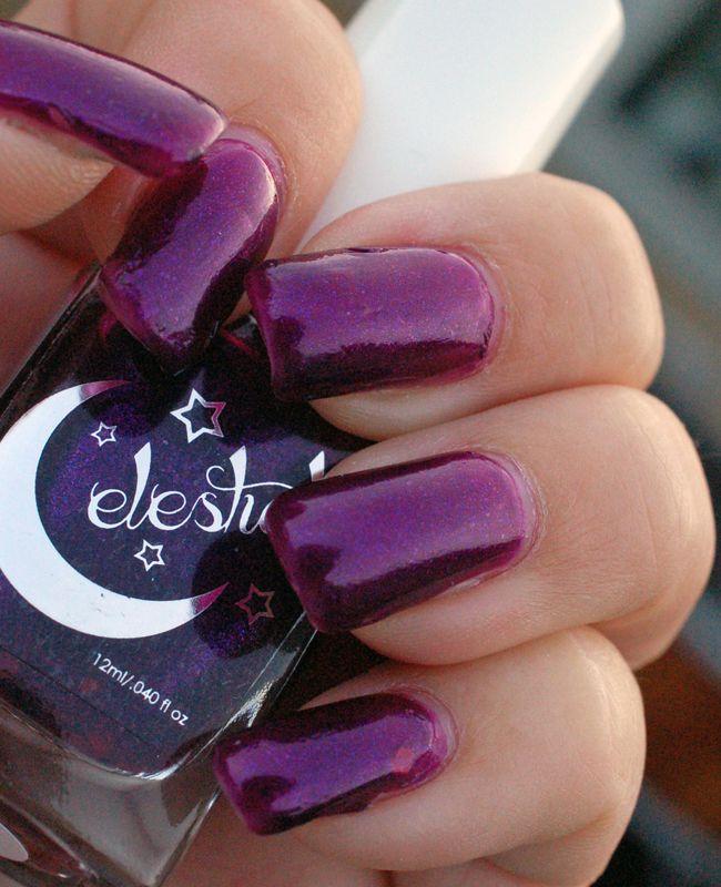 Edgy Polish - Celestial Cosmetics Rosy Plum