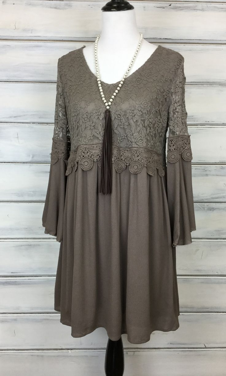 Sweet Caroline - Taupe FINAL SALE from Paisley Grace Boutique
