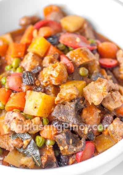 how to cook afritada pinoy food