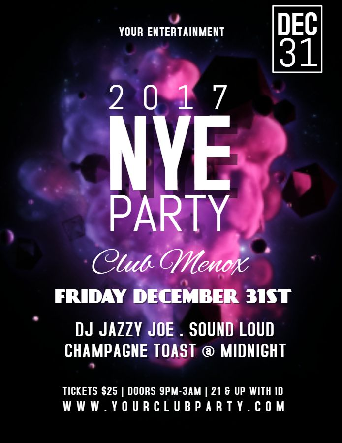 28 best New Year Flyer Templates images on Pinterest Flyer