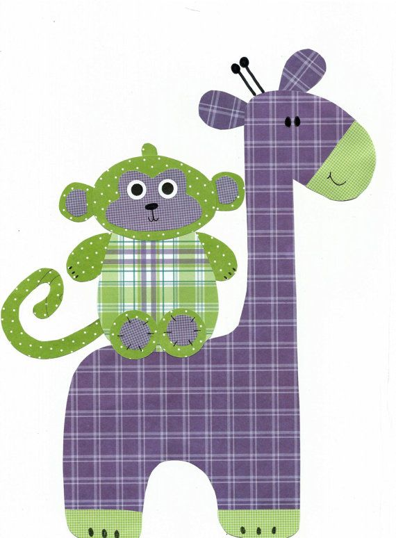 Purple and Green Nursery Artwork Print // Baby Room Decoration // Kids Room Decoration // Gifts Under 20