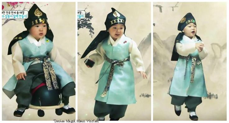 Daehan, Minguk, Manse dressed in hanboks to make a calendar for the new year | The Return of Superman