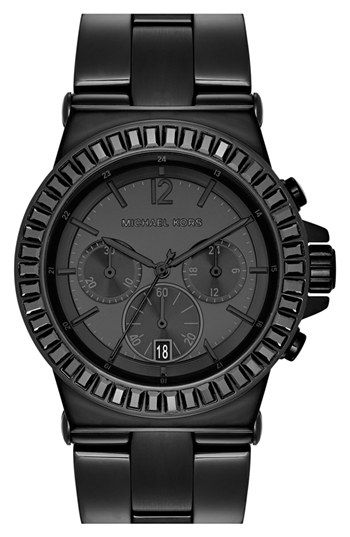 Michael Kors 'Dylan' Crystal Bezel Chronograph Watch, 43mm available at #Nordstrom