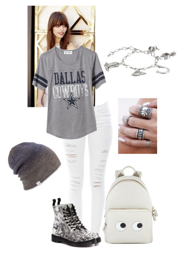 """Dalas cowboys"" by libby-arusi on Polyvore featuring Lulu*s, Frame Denim, Old Navy, Dr. Martens, Anya Hindmarch, M&F Western and Coal"