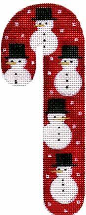 *****Snowman Candy Cane