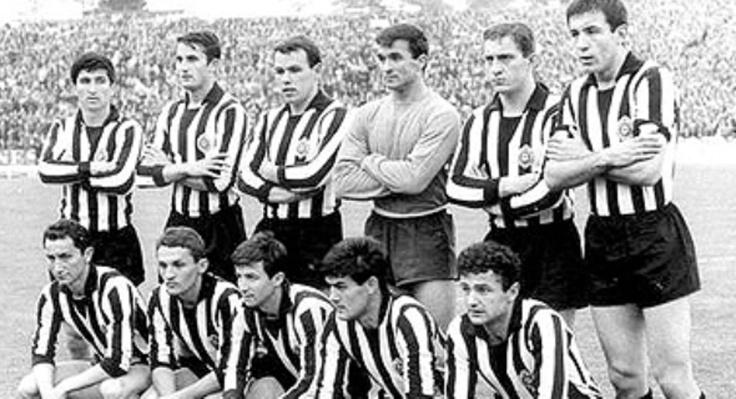 Fudbalski klub Partizan; en cirílico, Фудбалски клуб Партизан.El equipo de Belgrado fue el primer club de los países del este de Europa en jugar una final de la Copa de Europa. Fue en la temporada 1965-66 donde cayó en Bruselas ante el Real Madrid yé-yé por 2-1. Fue toda una proeza la lograda por el equipo de la extinta Yugoslavia en esa temporada. .