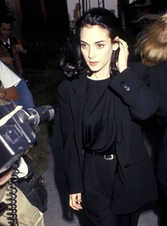 Longish black blazer coat