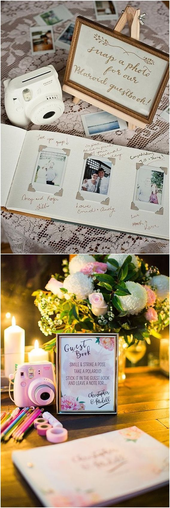 Unique Polaroid Wedding Guestbook Ideas #weddings …