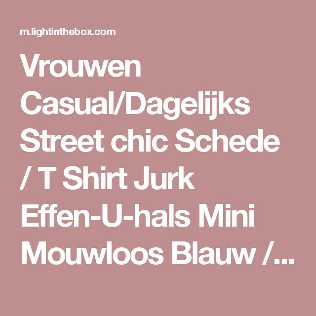 Vrouwen Casual/Dagelijks Street chic Schede / T Shirt Jurk Effen-U-hals Mini Mouwloos Blauw / Roze / Wit / ZwartKatoen / Polyester / 2017 - €6.01