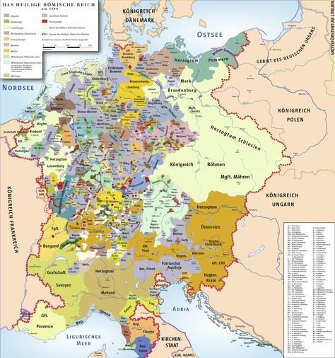 Holy roman empire in 1400 AD