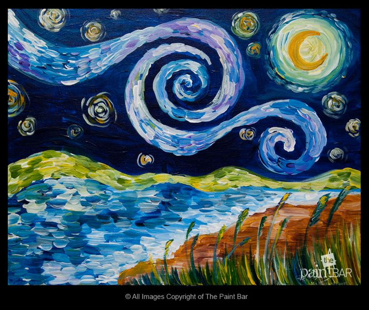 Starry Starry Cape Painting - Jackie Schon, The Paint Bar