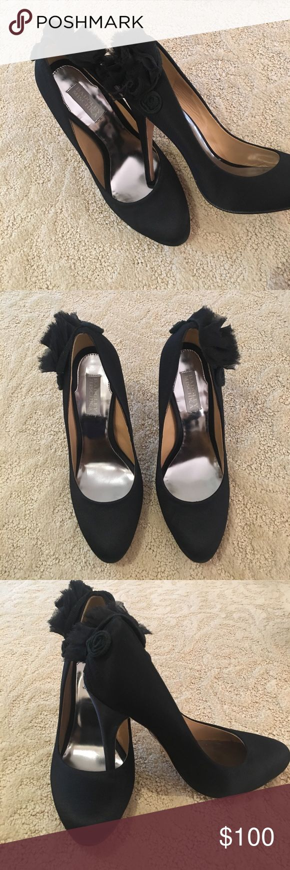 Badgley Mischka Black Heels These Badgley Mischka heels are in perfect condition!! They are sooo cute and are very clean! Badgley Mischka Shoes Heels