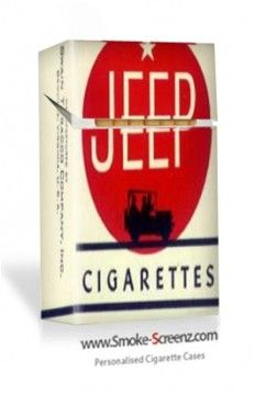 Jeep cigarettes pack - overlaid onto a cigarette case by a customer at www.smoke-screenz.com - very nostalgic!