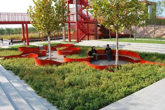 Turenscape, regenerative landscape design, garbage dump, low-maintenance, Tianjin, china, rainwater recycling, native plants, Botanical, Gre...