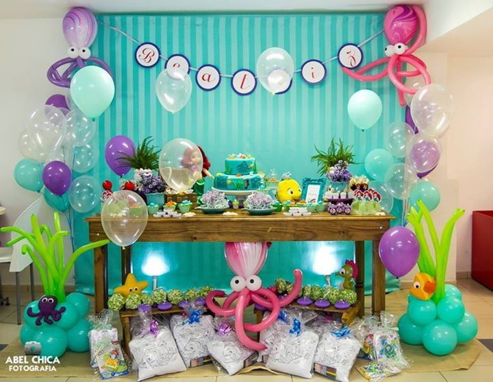 Oltre 25 Fantastiche Idee Su Feste A Tema Con La Sirenetta Su Pinterest Cibo Della Festa Ariel