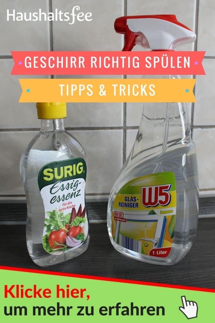 Erfahre hier, wie du richtig von Hand abwäschst.    Essig-Essenz und Glasreiniger.    >> Klicke auf das Bild, um alle wichtigen Infos zu erfahren.    Haushaltsfee – Hausarbeit mit Leichtigkeit