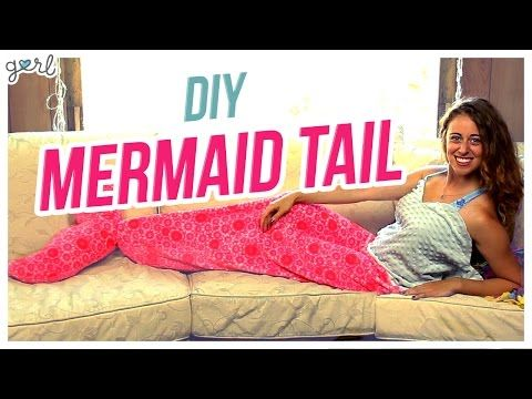 MERMAID TAIL Snuggie Blanket DIY! - YouTube