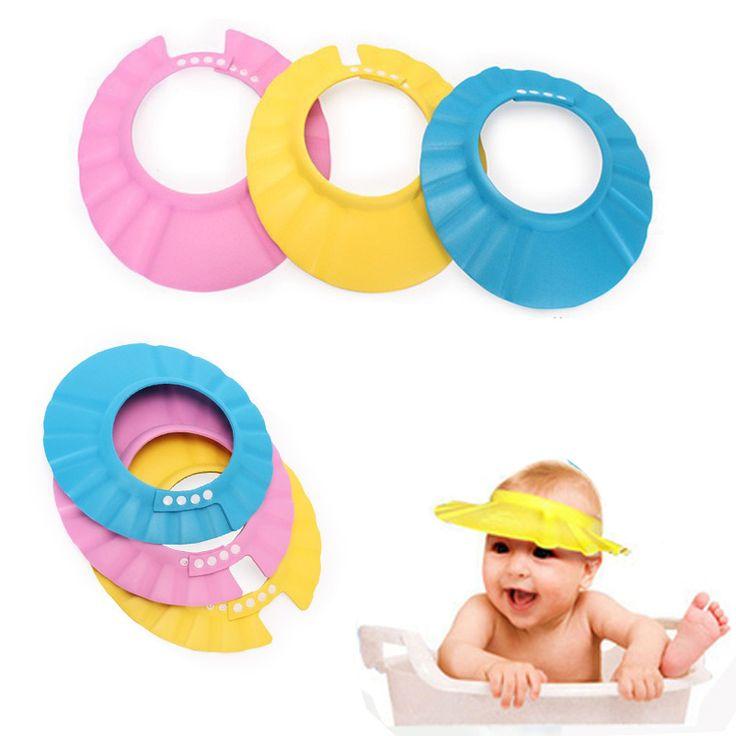 Accesorios de Baño caliente Herramientas de Seguridad A Prueba de Agua Champú Bebé Gorro de Ducha Sombrero Para Niños de Los Niños Gorro de ducha de Baño Suave Tonsee
