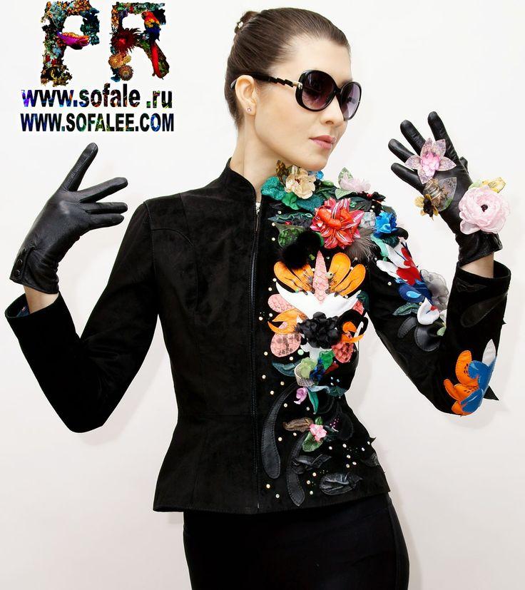 черная замшевая куртка женская с цветами.jpg (1156×1300)