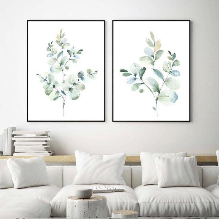 Eucalyptus Prints Botanical Print Set Bedroom Wall Decor Etsy In 2021 Green Wall Decor Wall Decor Bedroom Wall Art Living Room Wall art prints living room