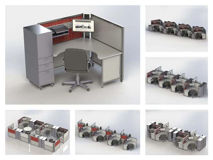 The Solo+ station can be set up in a variety of formations to meet your workplace needs.
