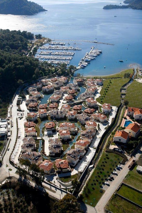 """Little """"venezia"""" in #Gocek #Turkey. It is how it looks from the sky. Portville is dream place to get old at :-)"""
