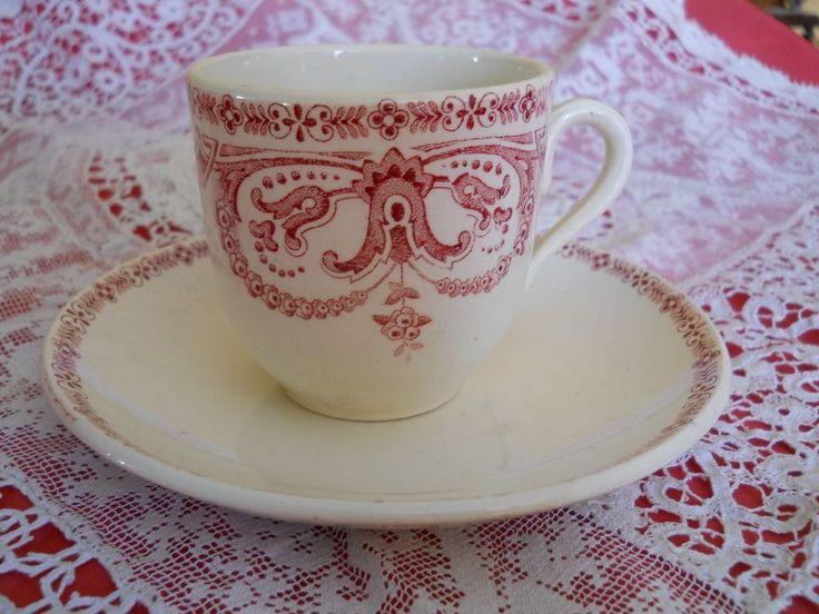 belle tasse ancienne sarreguemines digoin mod le guirlande vaisselle digoin pinterest. Black Bedroom Furniture Sets. Home Design Ideas