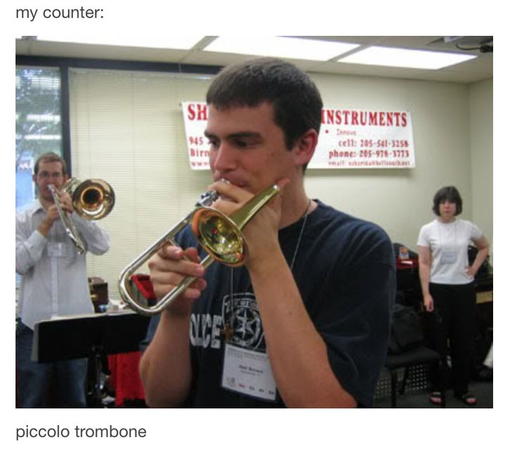 Piccolo Trombone. SOO CUTE | BAND