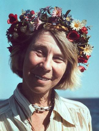 Tove Jansson, the creator of the wonderful Moomin characters, which are popular where I grew up in Scandinavia; love her color sense