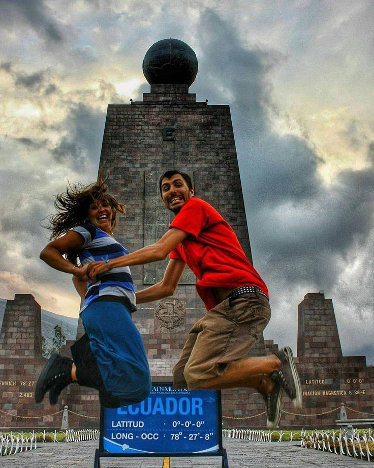Saltando en el hemisferio Sur y Norte en nuestro paso por la Mitad del Mundo en Quito. Vive tu mejor #aventura con #Rutaviva#TravelTheWorld  Los mejores #HOTELES DESTINOS y SERVICIOS encuéntralos en http://ift.tt/2nuTUfm Photo: @kombirutera #EcuadorNow#ViajaPrimeroEcuador#FeelAgainInEcuador  #Ecuador#FamiliaViajeraEcuador  #allyouneedisecuador #travelblogger #mochileros #natgeotravel#SoClose #LikeNoWhereElse #amor  #AllInOnePlace#instatravel #TraveltheWorld #primerolacomunidad#World_Shots…