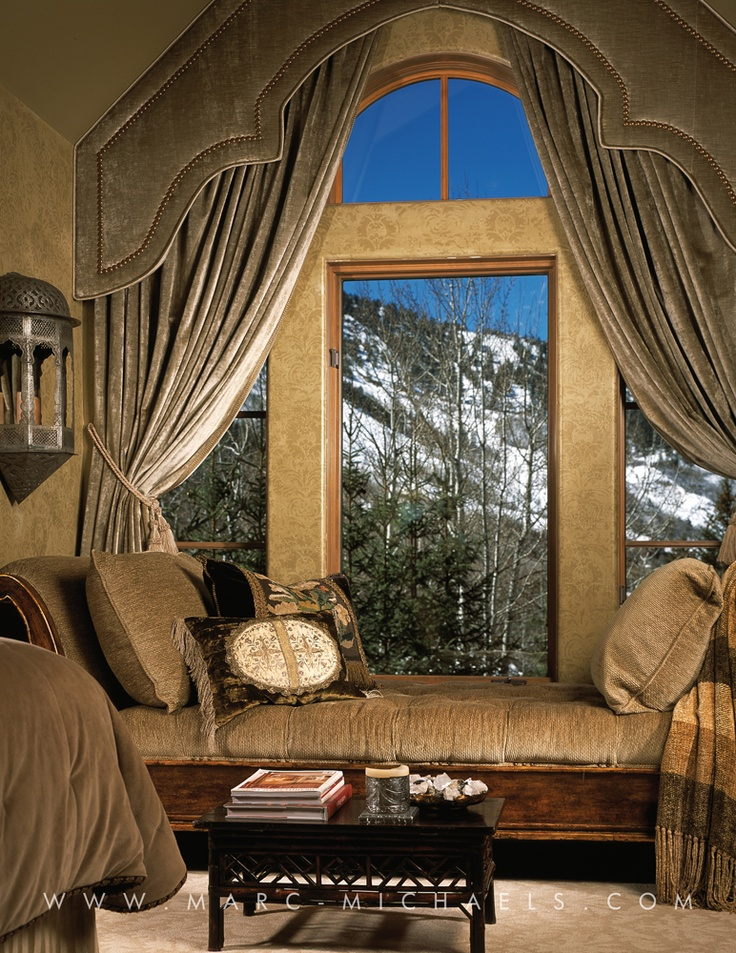 Curtains for window seat awesome modern cream nuance of for Window seat curtains