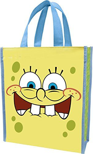 Vandor 21073 SpongeBob Square Pants Recycled Shopper Tote Small Multicolored @ niftywarehouse.com #NiftyWarehouse #Spongebob #SpongebobSquarepants #Cartoon #TV #Show